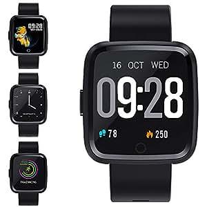Zagzog Montre Connectée Smartwatch Bracelet Connecté Bluetooth,Podomètre Cardio Étanche IP67 Smart Watch Sport, Fitness Tracker dActivité ...