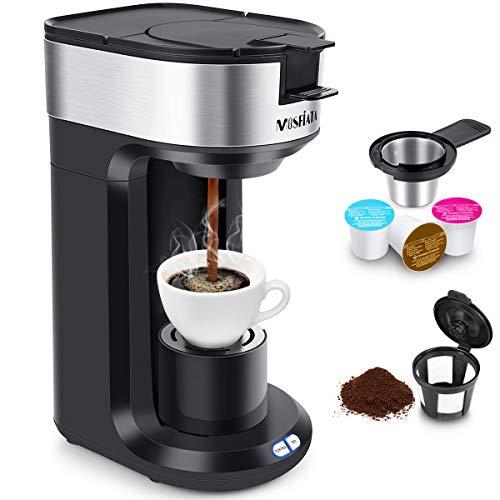 Máquina de café MOSFiATA KCM206 Máquina de café 2 en 1 Máquina de café automática de 1000 W, parada automática de 420 ml, certificación ETL y FDA