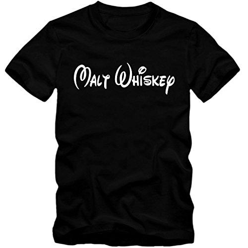T-Shirt Malt Whiskey Whisky Walt Fun Shirt Tee Disney inspired S-4XL NEU, Farbe:schwarz;Größe:L