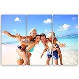 ge Bildet® hochwertiges Leinwandbild XXL - Ihr eigenes Foto - Ihr Wunsch-Motiv auf Künstler-Leinwand - 120 x 80 cm mehrteilig (3 teilig)