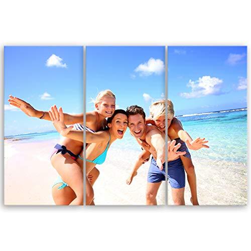 ge Bildet® hochwertiges Leinwandbild - Ihr eigenes Foto - Ihr Wunsch-Motiv auf Künstler-Leinwand - 90 x 60 cm mehrteilig (3 teilig)