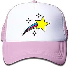 uykjuykj Trucker Cap Boy Girls Cute Rainbow Stars Mesh Baseball Hat  Adjustable Unique Personality Cap 73d73310818