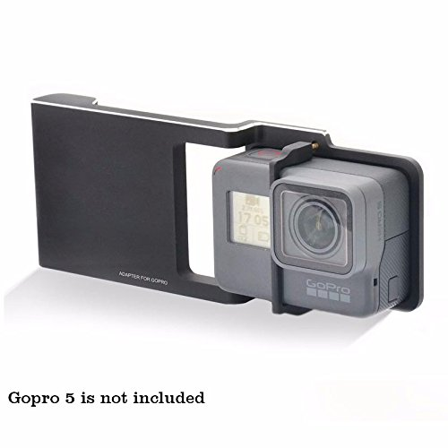 HolaFoto Plate for GoPro Hero 6 / 5 / 4 / 3 / 3+ Camera Used with DJI Osmo Mobile 2 /Zhiyun Smooth Q / C / C+ / SMOOTH-II / SMOOTH-3 Handheld Stabilizer Gimbal to Connects (Plate Only)