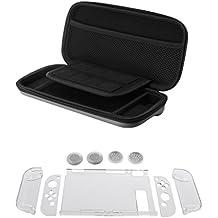 Homyl EVA Hard Shockproof Carry Storage Case + Case Cover+Caps For Nintendo Switch