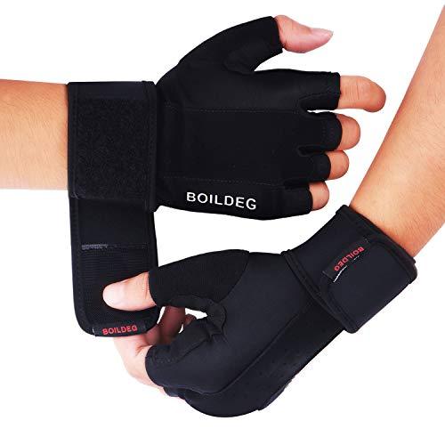 55ad4b6c00a089 BOILDEG Fitness Handschuhe Trainingshandschuhe,für Bodybuilding  Crossfit,Damen&Herren(S)