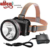 Headtorch by BALIRAJA, headlamp, Head Light, Upto 1000 Meter (1km) Range Rechargeable Head