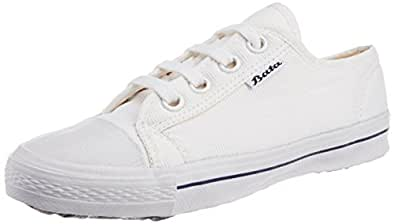 Bata Boys Super Match White Canvas Uniform Shoes - 7 kids UK/India (25 EU) (4391345)