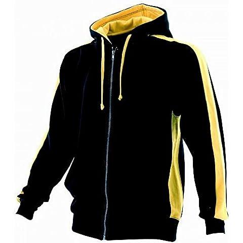 Finden & Hales - Sudadera con capucha y cremallera Modelo Full Zip hombre caballero -