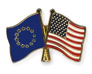 Yantec Freundschaftspin Europa USA Pin Anstecknadel Doppelflaggenpin