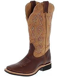 Botas americanas–Botas cowboy bo-5206-c (pie normal)–Mujer–Piel–Marrón