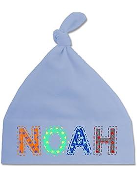 Junge - Name - NOAH Stern Bunt - BZ15 - Babymütze - mit Knoten
