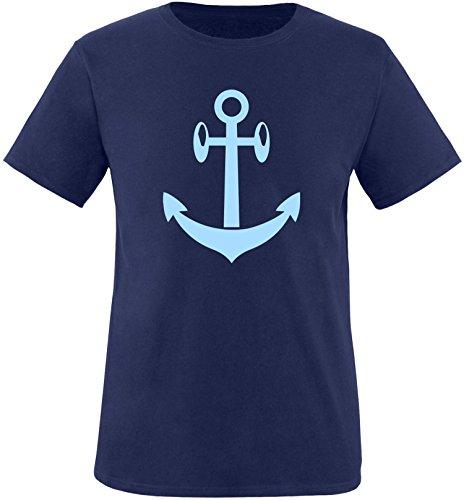 EZYshirt® Anker Maritim Herren Rundhals T-Shirt Navy/Hellblau