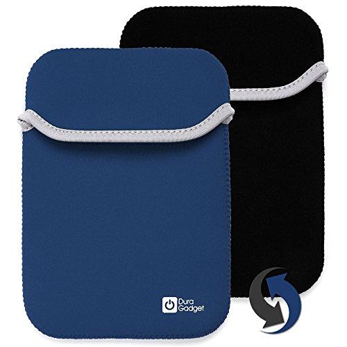 2-in-1 umkehrbare Tasche | Etui | Case | Schutzhülle in SCHWARZ-BLAU aus wasserabweisendem Neopren-Material für Texas Instruments Voyage 200 und den Casio FX-9860GII-LD-EH grafischen Taschenrechner (Rechner ist NICHT im Lieferumfang enthalten!)