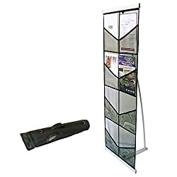 Portable Brochure Holder, Literature Display Stand, Leaflet Rack, Exhibition, 8 A4 Pockets
