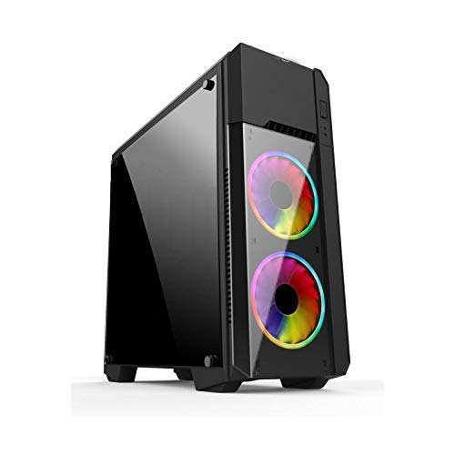 Electrobot i5 9th gen 6 core - Upto 4.10 Ghz, 8GB DDR4 2400Mhz, Nvidia GTX 1050ti 4GB, 120GB SSD, 1TB HDD, Gaming PC with 3 Rainbow Color Cooling Fans