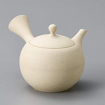 Yamakiikai Tokoname Japonais en céramique Kyusu Théière Rond Blanc Maruko 230CC avec Filtre intégré Y429à partir du Japon