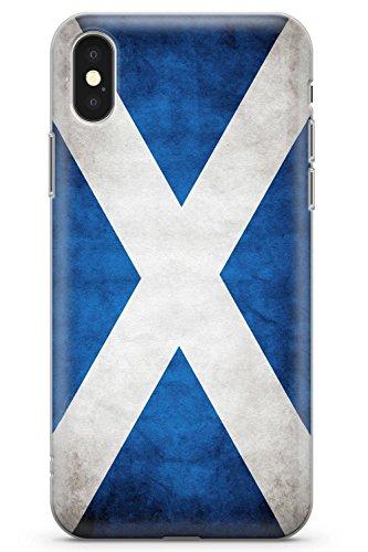 Case Warehouse iPhone XR Scotland Saltire Flag Schutz Gummi Handyhülle TPU Bumper Flagge Saltire Gälisch Schottisch Hochland Flag Case Zubehör