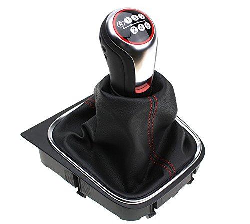 Original VW GTI Golfball Schaltknauf Schalthebel schwarz/rot Schaltgetriebe 6-Gang
