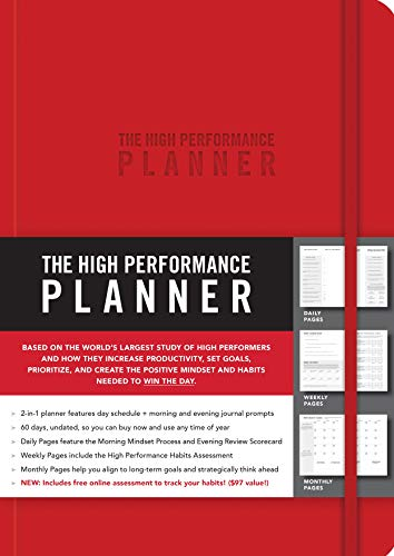 The High Performance Planner [Red] por Brendon Burchard