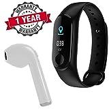 RapGear M3 Sweatproof Smart Fitness Bluetooth Wrist Band with Heart Rate Sensor, Sleep