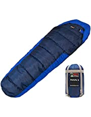 Kefi Outdoors Sleeping Bag - Mummy Style, Portable – Ideal for Camping, Hiking, Traveling, Backpacking, with Compression Sack, Temperature +6 °C to +15 °C, 925 g