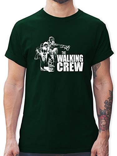 JGA Junggesellenabschied - The Walking Crew weiß - Zombie JGA - L - Dunkelgrün - L190 - Herren T-Shirt und Männer Tshirt (Ideen Für Die Film Motto Kostüme)