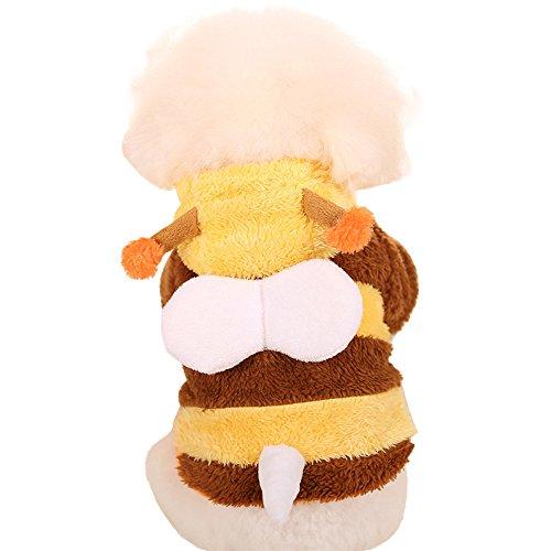 dulee Pet Cosplay Biene Kleidung Halloween Weihnachten Pet Kleid bis Verklärung Kleidung