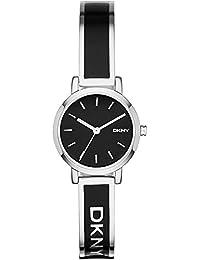 DKNY  NY2357 - Reloj de cuarzo con correa de acero inoxidable para mujer, color negro