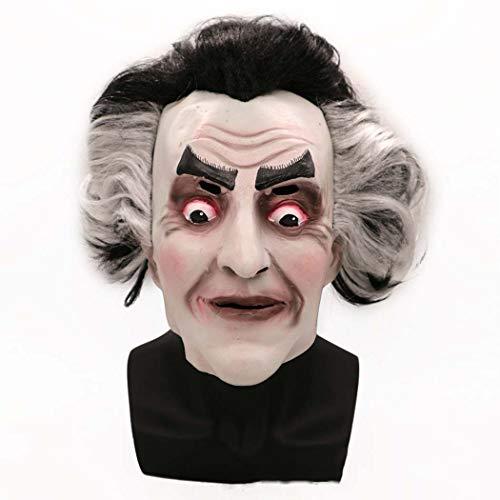 Halloween Horror Maske Ghost King Night King Haar Grimace Latex Maske,Photocolor,Onesize