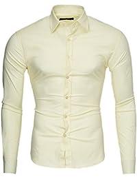 de07676c3682a Amazon.es  Amarillo - Camisas   Camisetas, polos y camisas  Ropa