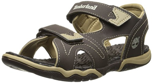 Timberland Advskr 2Strp, Sandales garçon Marron (Brown With Tan)
