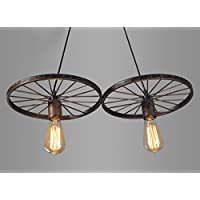 Vintage Retro metallo appeso ciondolo luce lampada Edison lampadina Art