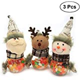 YeahiBaby Plastic Christmas Candy Jar-3 Pieces