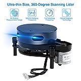 Capteur Lidar à scanner à 360 degrés UAV - Ultra petit - Haute précision - Longue portée de plus de 8 mètres - Pour la navigation robot ROS et l'éviation des obstacles en intérieur ou en extérieur