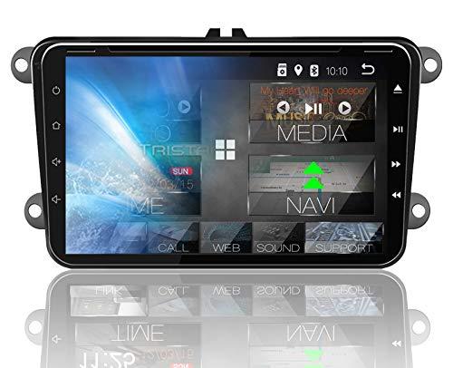 Tristan Auron BT2D7023VW Autoradio Android 8.1, 7'' Touchscreen Bildschirm, GPS Navi, Bluetooth Freisprecheinrichtung, Quad Core, USB/SD, OBD 2, DAB+, 2 DIN I VW Seat Skoda