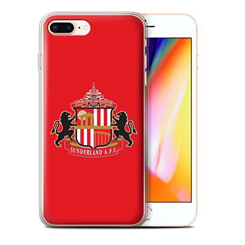 Offiziell Sunderland AFC Hülle / Gel TPU Case für Apple iPhone 8 Plus / Pack 6pcs Muster / SAFC Fußball Crest Kollektion Rot