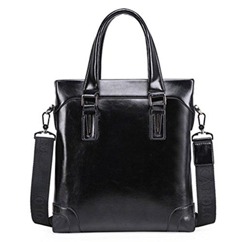Männer aus Leder Handtasche Klassische Ledertasche Business Men Bag 14 Zoll Laptop Aktentasche Messenger Bag (Kipling Laptop-messenger Bag)
