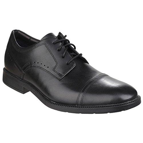 Rockport Dressports Modern Captoe, Chaussures à Lacets Homme Noir