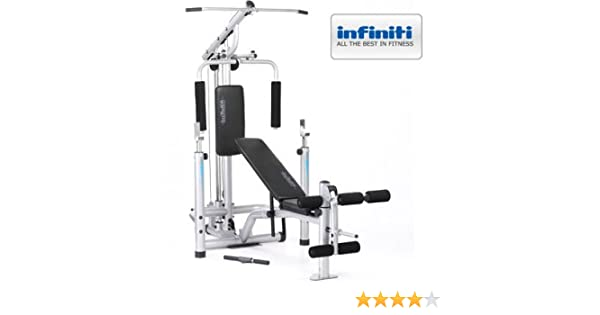 Infiniti power pro weight bench squat rack gym with lat pulldown