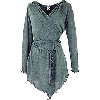 Guru-Shop Pixi Wickel-Strickjacke, Damen, Taubenblau, Baumwolle, Size:38, Strickjacken, Ponchos Alternative Bekleidung
