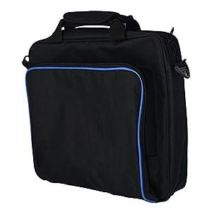 Playstation Tragetasche, stabilem strapazierfähiger, tragbarer Nylon Taffeta Reise Schultertasche Videospiel Konsole Tasche für PS4, PS4Slim und PS4Pro # 81050