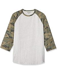 Amazon Essentials Regular-Fit 3/4 Sleeve Baseball T-Shirt Uomo