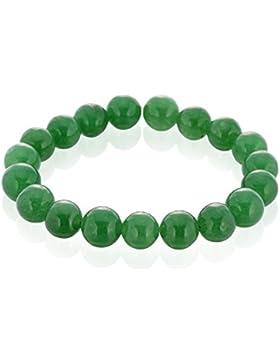Llords Schmuck tibetische Gebetsperlen buddhistisches Armband, heilende Kristalle, grüner Aventurin