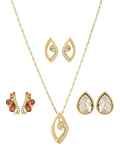 NIA Designer Combo Pair Of Earrings & Pendant Set With Chain