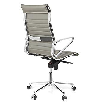 Office Chair/Executive Chair PARIBA I Leather Grey hjh OFFICE