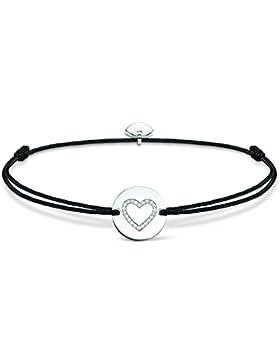Thomas Sabo Damen-Armband Little Secrets 925 Sterling Silber Schwarz LS002-401-11-L20v