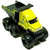 Maisto Fresh Metal Builder Zone Quarry Monster Yellow Dump Truck Motorized 6 Wheeler