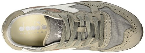 Diadora Trident C Dyed Brogue, Scarpe Low-Top Unisex Adulto Grigio (Gray Pewter)