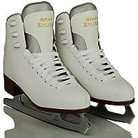 GIRLS ICE FIGURE SKATES, GRAF BOLERO + FREE FIFI SKATEGUARDS