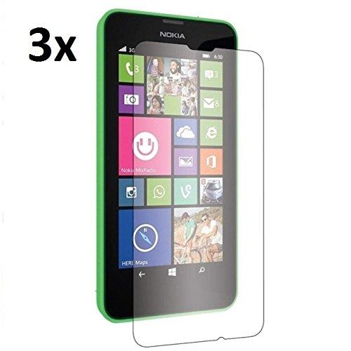 Saxonia [3 Stück] Bildschirmschutzfolie Nokia Lumia 630 Schutzfolie Folie in bester Qualität mit Mikrofasertuch Matt